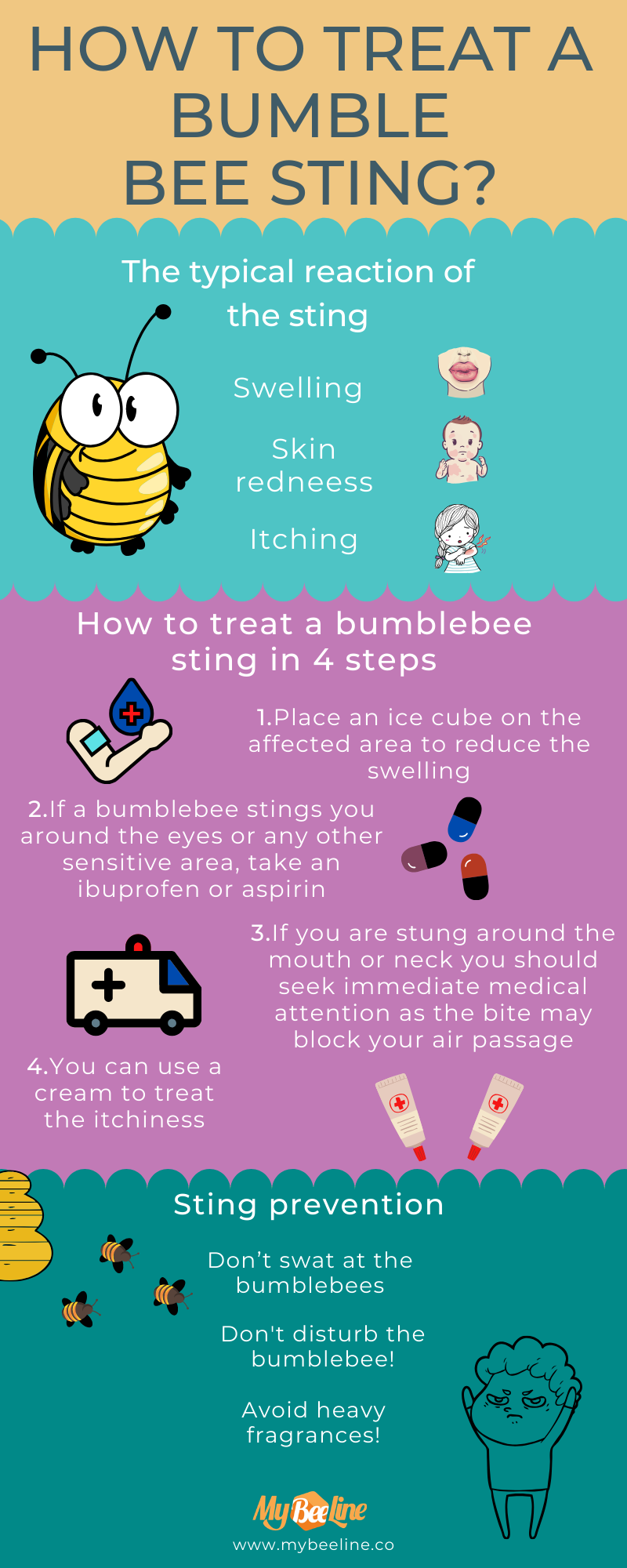 how to treat a bumblee bee sting